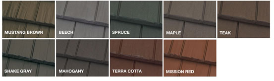 Steel Shake Roofing Colors