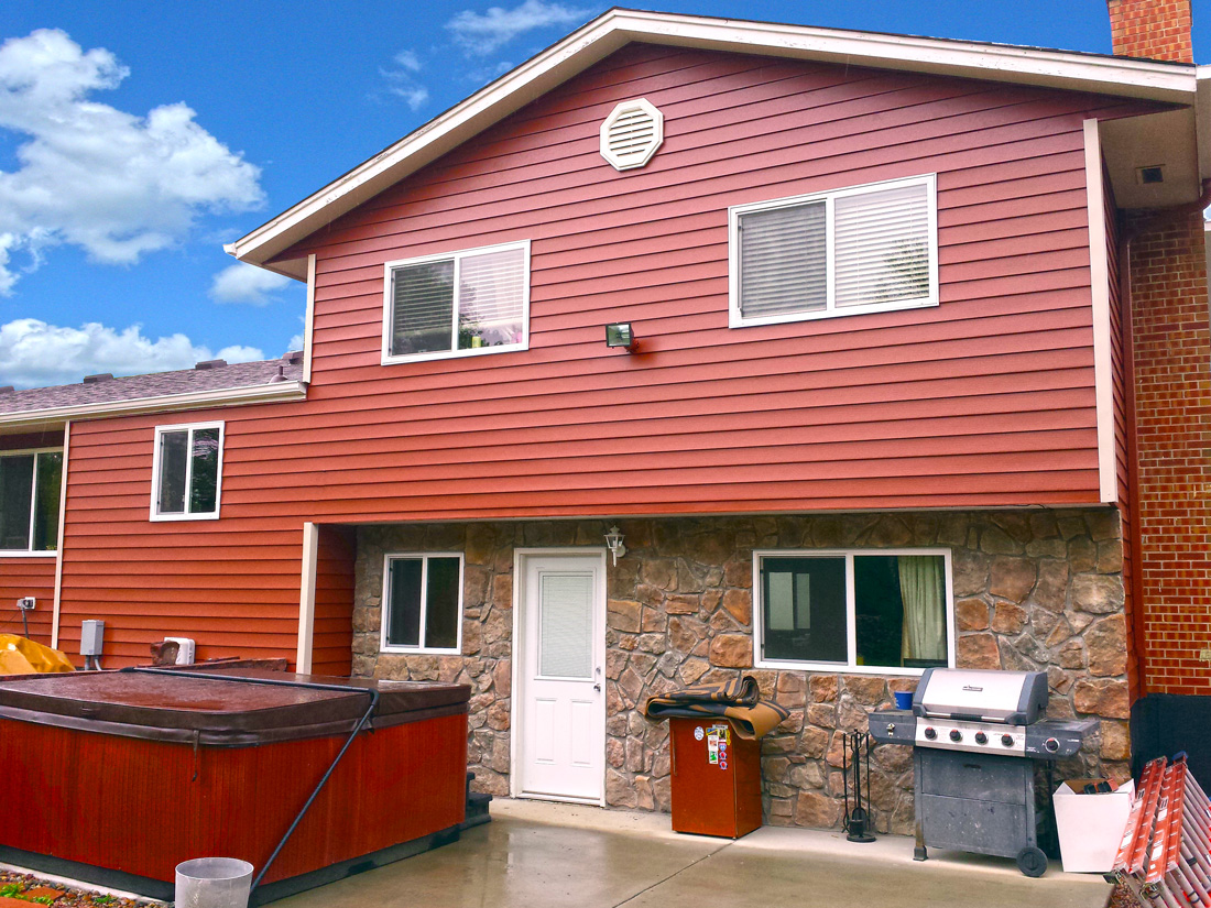 Steel Siding And Stone Veneer June 2015