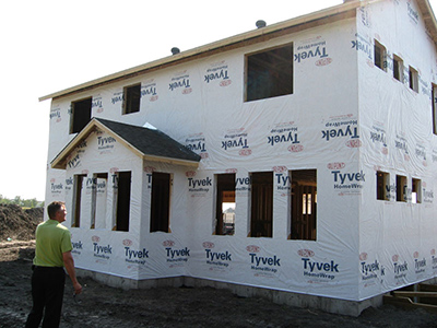 Tyvek vs exterior fanfold insulation colorado springs for Sheathing house wrap